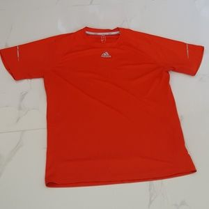 Adidas Red Workout Tee with Logo